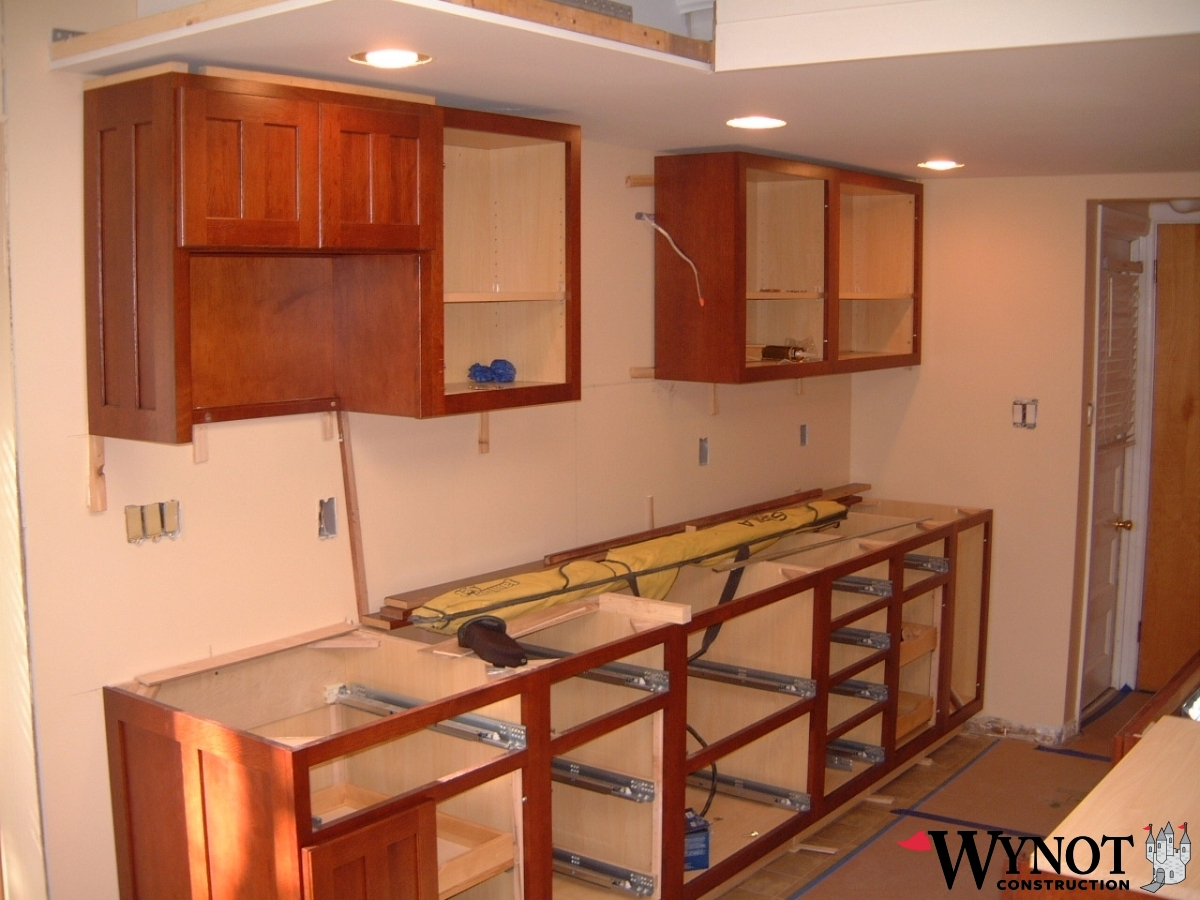 kitchen bathroom cabinet installation wynot construction. Black Bedroom Furniture Sets. Home Design Ideas